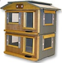 Outdoor Pet Houses - Duplex Bungalow Cat House also exit only back ...