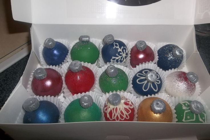 Cake Balls Decorated For Christmas : Days of Christmas: Ornament Cake Balls Christmas favor ...
