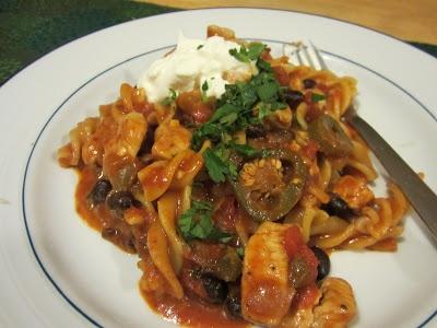 Southwest Chicken Pasta Skillet @Life on Food