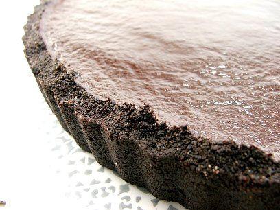 Chocolate Glazed Chocolate Tart by EvilShenanigans, via Flickr