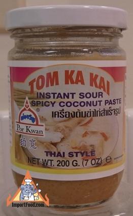 Tom Kha Paste (soup base, just add water, chicken, mushrooms)