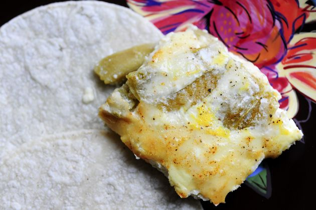 Lazy Chiles Rellenos- we make something like this but we bake them in ...