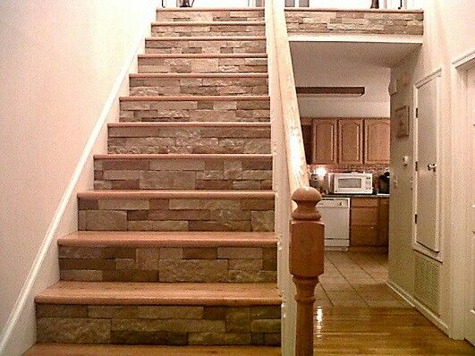 Airstone On Stairs Crafts And Projects Pinterest