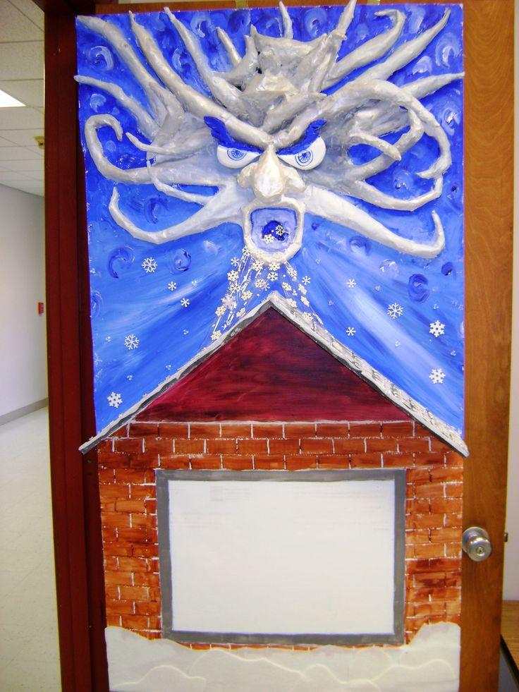 Cool winter door school decorations bulletin boards pinterest