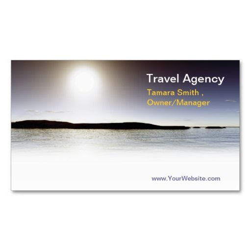 Travel Agency Business Card Templates