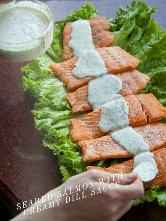 Seared Salmon with Creamy Dill Sauce | Main Dishes | Pinterest