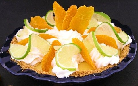 Mango on Key Lime pie | Just Desserts-Pies/Cobblers | Pinterest