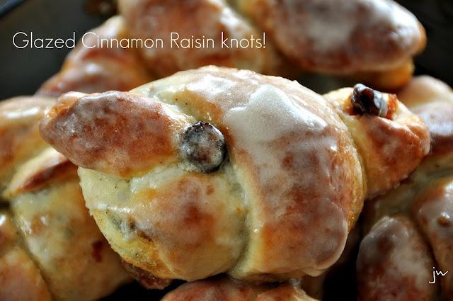 glazed cinnamon raisin knots | Breakfast foods! | Pinterest