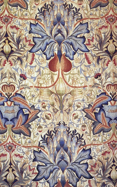 Embroidered panel by William Morris, produced by Morris & Co in 1890.