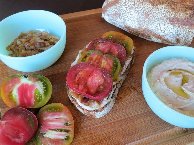 Caramelized Onion+greens Tartine Recipe — Dishmaps