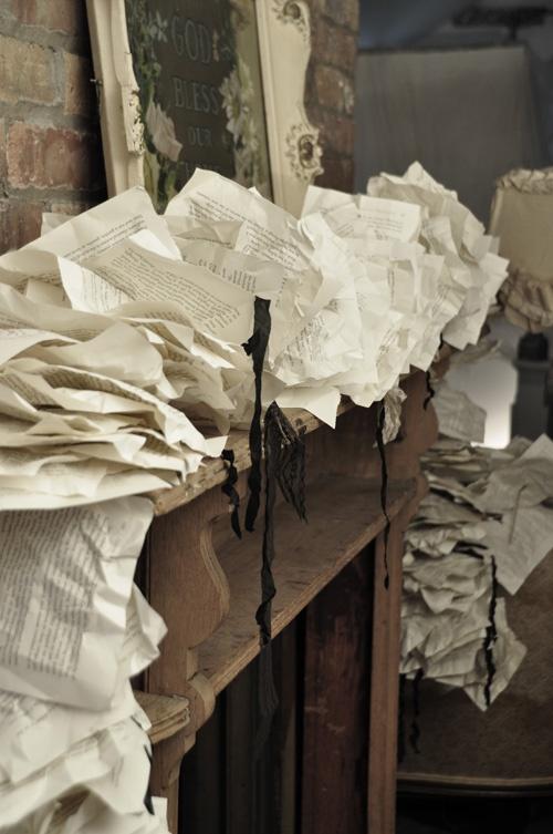 vintage paper garland