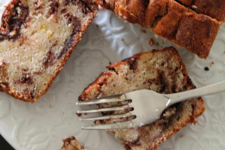 Nutella swirled banana bread | Hinckley Times | Pinterest