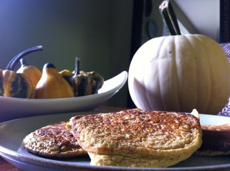 Pumpkin Spice Protein Pancakes: 1 1/2 cup oat flour 2 tbsp ideal 1 ...