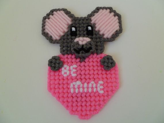 valentine heart mouse craft