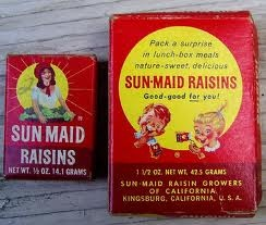 1960s/1970s Sun Maid raisin boxes. from the same lot as the Beech Nut cereal ...