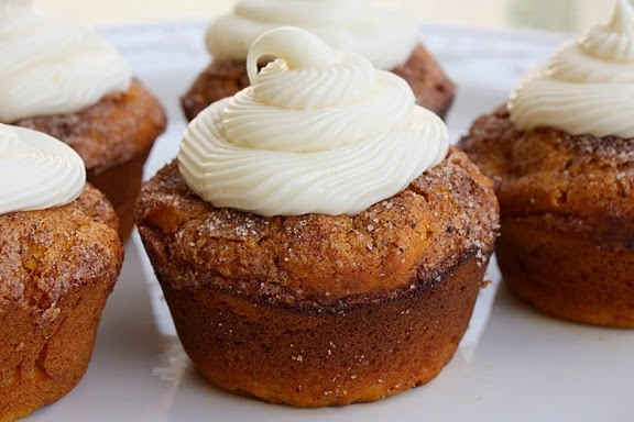 Pumpkin Spice Muffins with Cream Cheese Frosting | Recipe