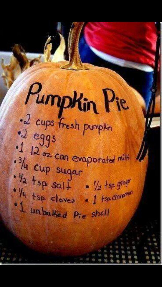 Easy pumpkin pie for Thanksgiving | Favorite Recipes | Pinterest
