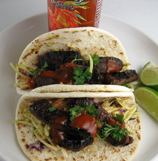 beef teriyaki tacos ginger-miso slaw | Food worth talking about | Pin ...