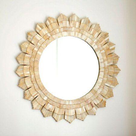 Bone Sunburst Mirror Ballard Designs Furnishings