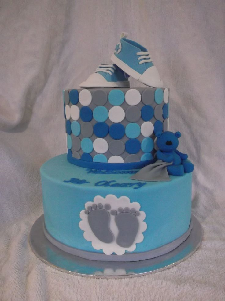 Living room decorating ideas blue baby shower cakes pinterest for Baby boy cake decoration