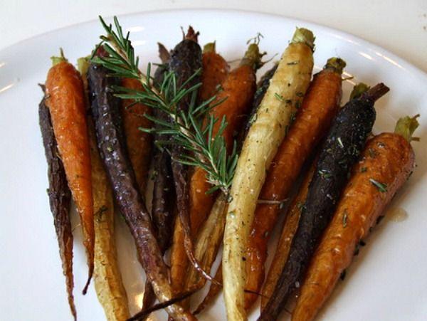Roasted Whole Carrots with Rosemary and Honey | Recipe Girl