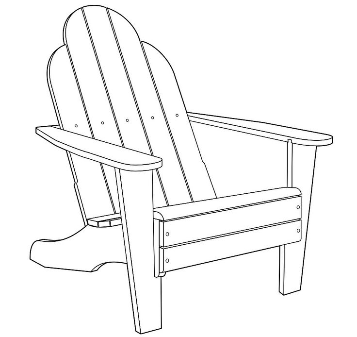 Printable adirondack chair template 1000 images about for Chair design templates
