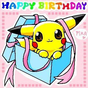 "Happy Birthday"" pikachu | Pokémon | Pinterest"