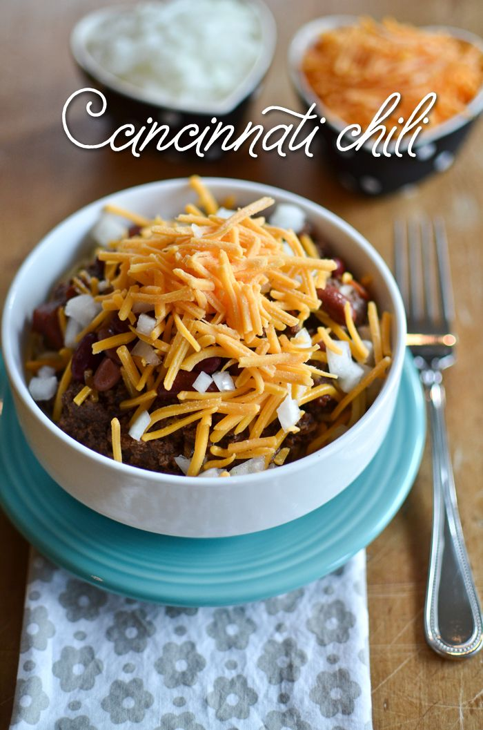Cincinnati Chili - A Teaspoon of Happiness - recipe calls for ground ...