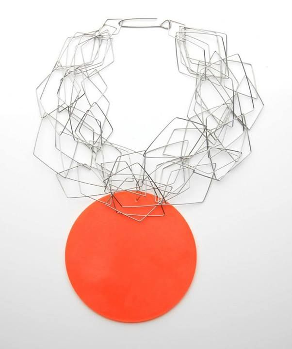 Heather McDermott - Caught in the rope necklace - stainless steel, acrylic, - Edinburgh College of Art 2011