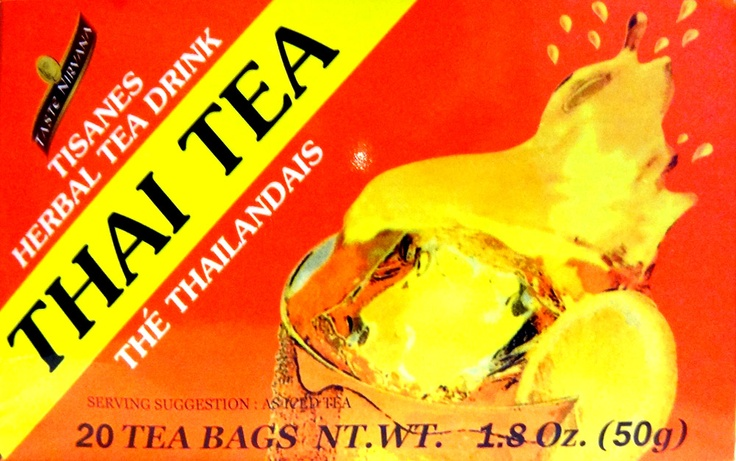 Thai Iced Tea with Coconut Milk instead of condensed milk. Gotta love ...