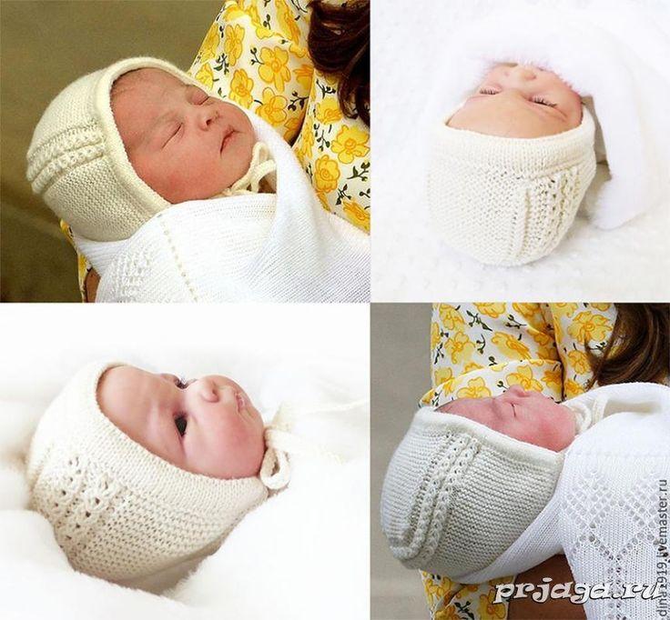 Вязание новорожденным спицами чепчик для новорожденного 520