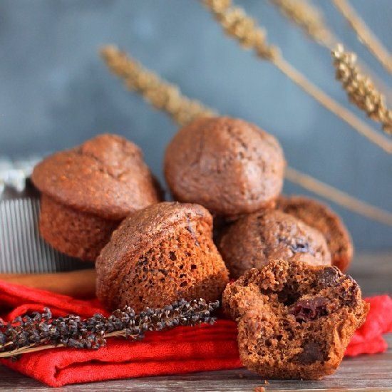 Double Chocolate and Cherry muffins! Delicious and made with Whole ...