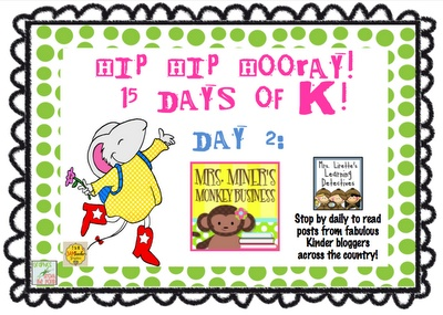 15 days of fantastic freebies -- all things kinder!  WOW!