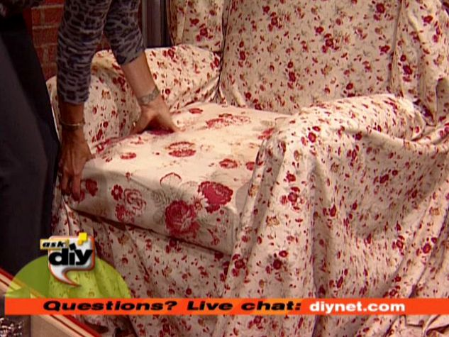 Diy No Sew Wing Chair Slipcovers Myideasbedroomcom