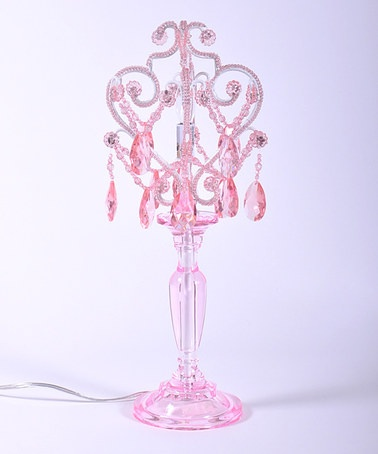 Take a look at this pink sapphire chandelier table lamp by tadpoles on