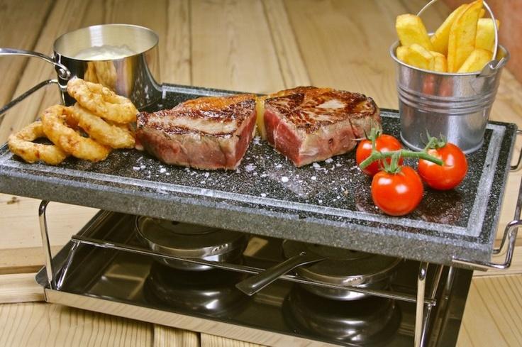 stone grill set hot cooking stones for steak sizzling hot steak on. Black Bedroom Furniture Sets. Home Design Ideas