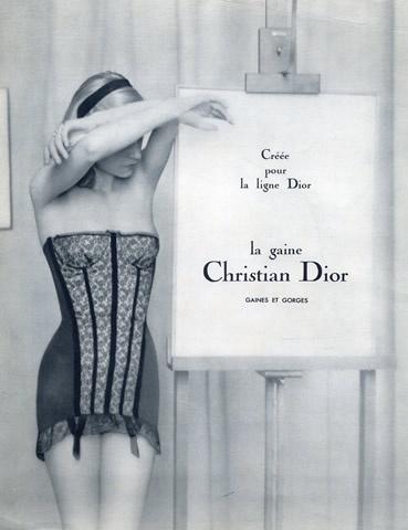 Vintage Lingerie Ad #lingerie #vintage #dior