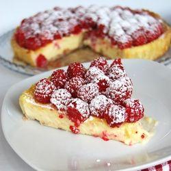 White Chocolate Raspberry Tart   Food   Pinterest
