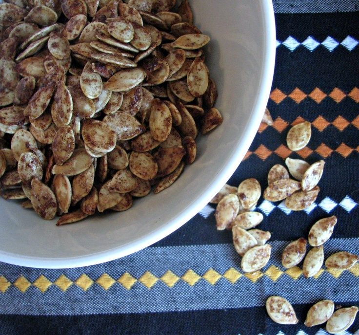 Sweet and Spicy Roasted Pumpkin Seeds | Conscious Eatery | Pinterest