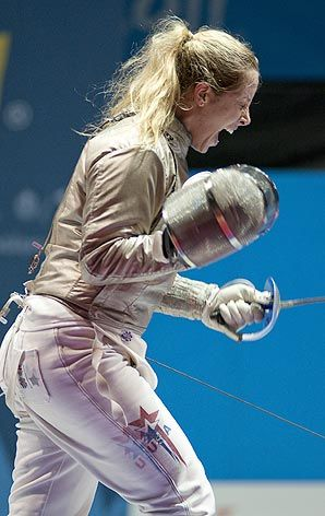 Mariel Zagunis could become first U.S. woman with four Olympic fencing medals.