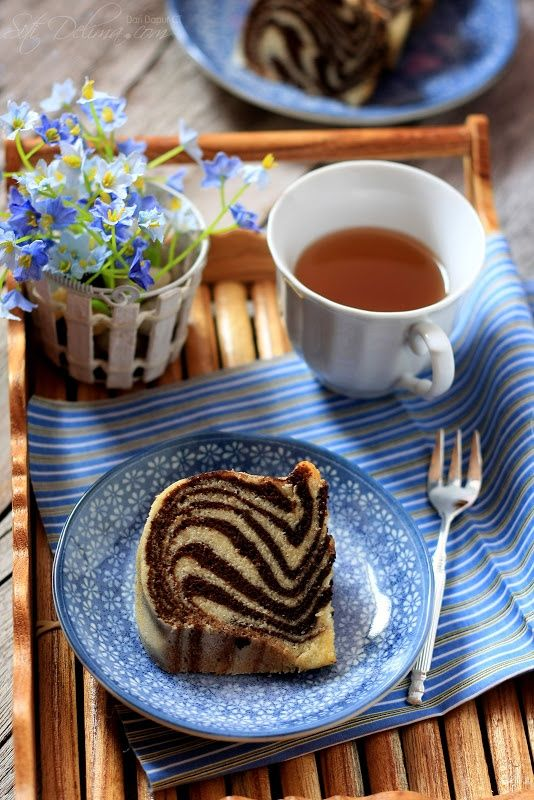 Tea and Marble Cake #photography
