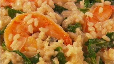 Giada De Laurentiis - Lemony Shrimp and Risotto maybe use leeks ...