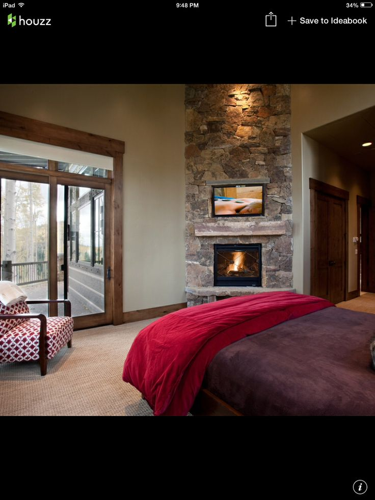 Bedroom Fireplace Custom Home Master Br Pinterest