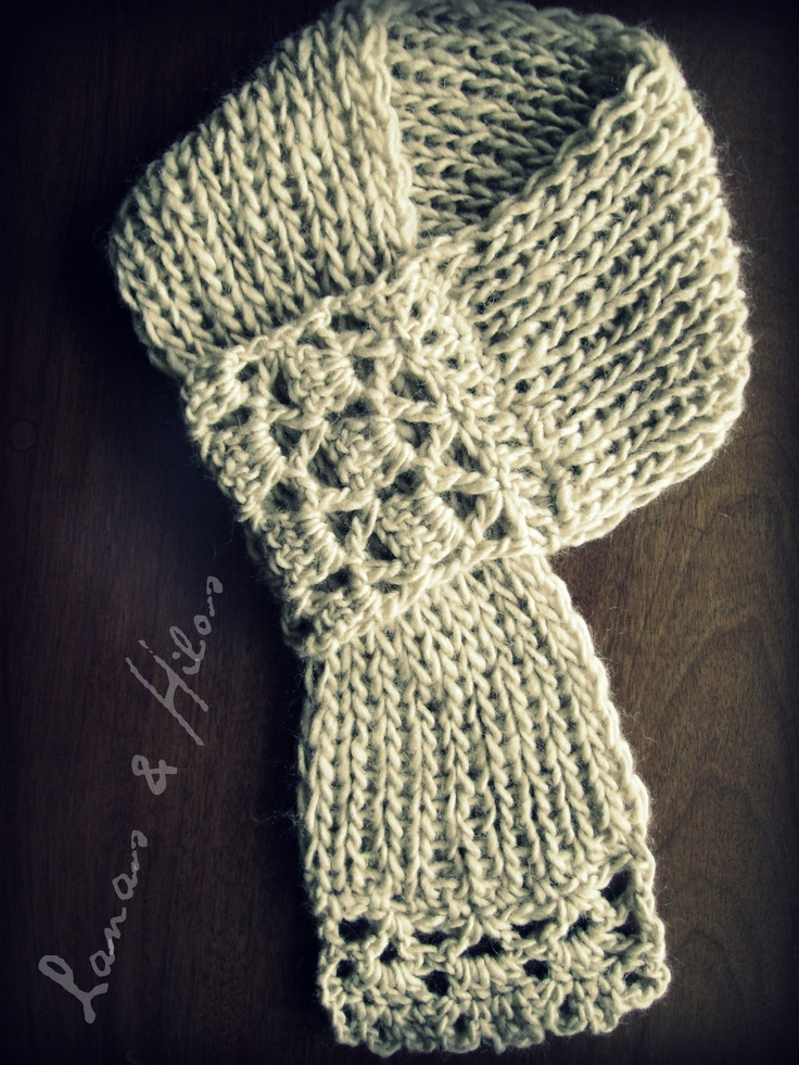 Crocheting Edges Of Knitting : Knitted Scarf with Crocheted Edge Knitting Pinterest