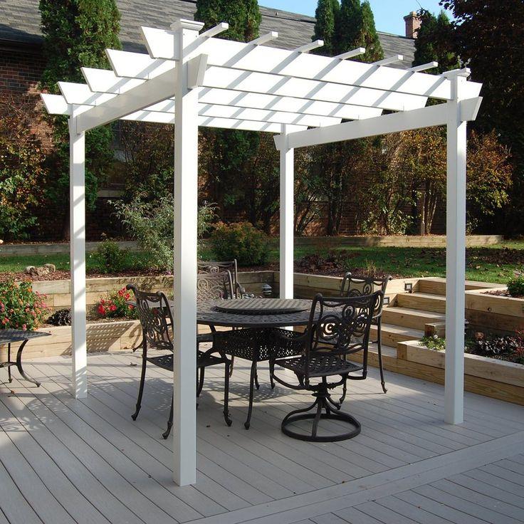dura trel 8 ft x 9 ft x 9 ft white vinyl freestanding. Black Bedroom Furniture Sets. Home Design Ideas