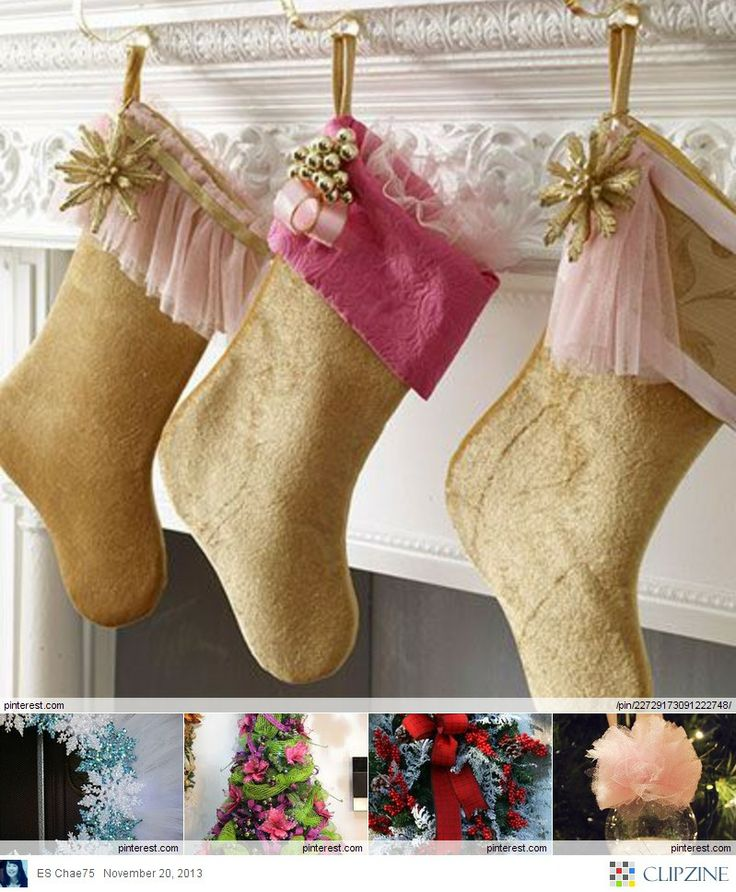 Tulle Christmas Decorations | Christmas | Pinterest