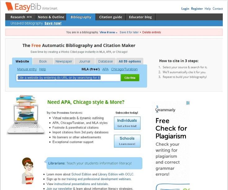 EasyBib Free Bibliography Generator  MLA APA Chicago