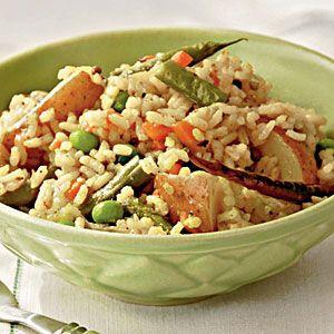 Mixed Vegetable and Rice Pilaf | MyRecipes.com