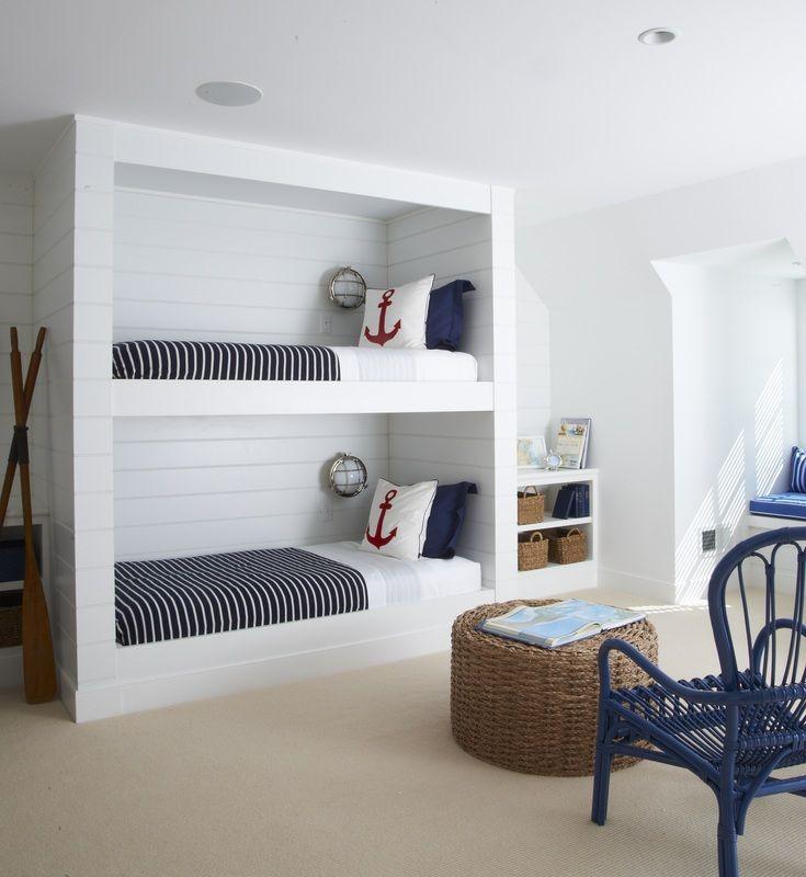 マリンスタイルボックス2段ベッド : 【海外DIYハック】子供部屋の二段