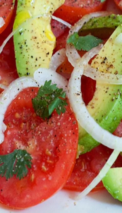 ... tomato corn and avocado salad comma happy tomato and avocado salad